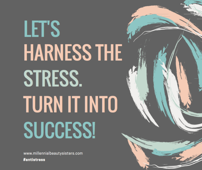 I don't think there's anything more relatable to the millennial condition than stress. We've all been there, we're all headed there, we're all coming from there at one point or another. Let's talk about how to harness that stress and turn it into success.