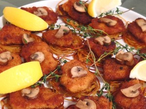 Garnished with Fresh Lemon and Thyme