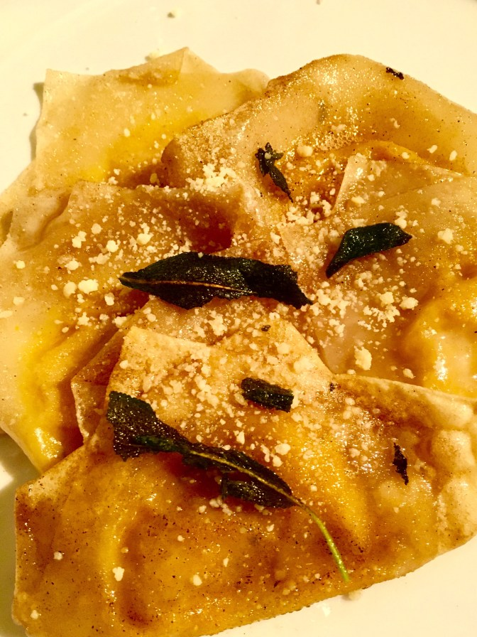 Butternut Squash Ravioli in Brown Butter and Sage