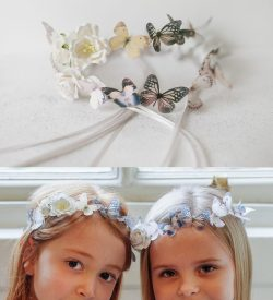 girls butterfly circlet hairband