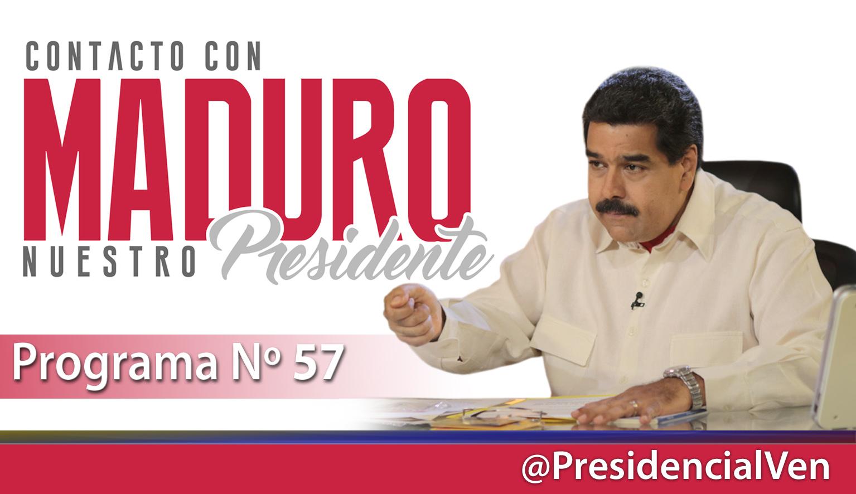 Arranca Contacto con Maduro Nº 57  desde el Palacio de Miraflores