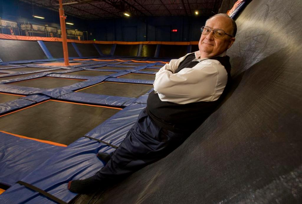 William Edwards, CEO of Edwards Global Services, is helping Sky Zone indoor trampoline park establish franchises overseas.  ///ADDITIONAL INFO: edwards.franchises.0306 - 3/4/16 - Photo by PAUL RODRIGUEZ - Bill Edwards, CEO of Edwards Global Services, is helping Sky Zone indoor trampoline park establish franchises overseas.