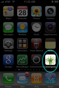 Lemongrass On Homescreen