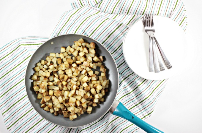 These Fried Potatoes are tender and fluffy on the inside, crisp and flavorful on the outside. Easy and worth the time it takes to make them.
