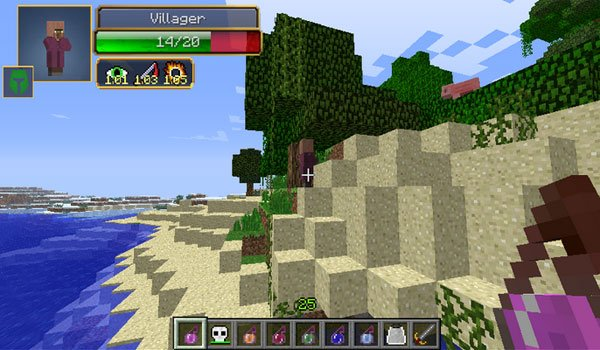 Damage Indicators Mod for Minecraft 1.7.10 and 1.7.2