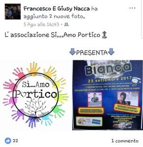 Post fatto dal vicepresidente di Si...Amo Portico il 5 Agosto 2017