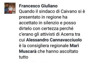 Il commento fatto da Francesco Giuliano