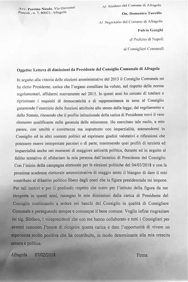 lettera di dimissioni