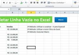 3 Maneiras de Deletar Linhas Vazias no Excel