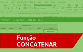 Função CONCATENAR Excel