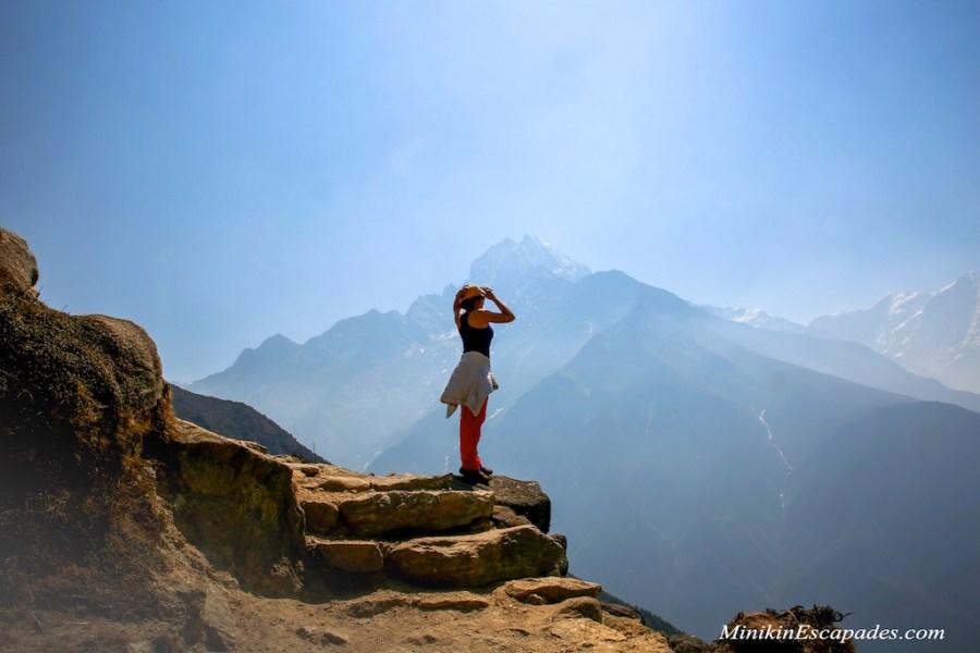 Acclimitization hike around Namche Bazaar to Everest view hotel