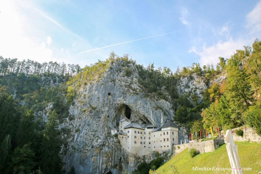 Pedjama castle-in a cliff face in Slovenia