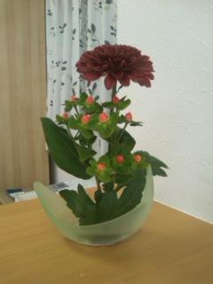 初めての生け花