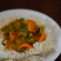 Green and Orange Pepper Curry
