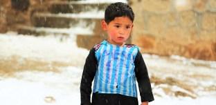 Le rêve brisé du petit Afghan fan de Lionel Messi