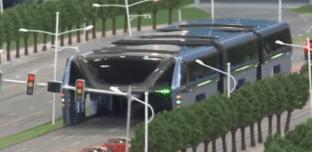La Chine met au point un bus sans embouteillage