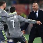 Finale de la Ligue des Champions: Zidane partage sa joie dans les bras de sa famille