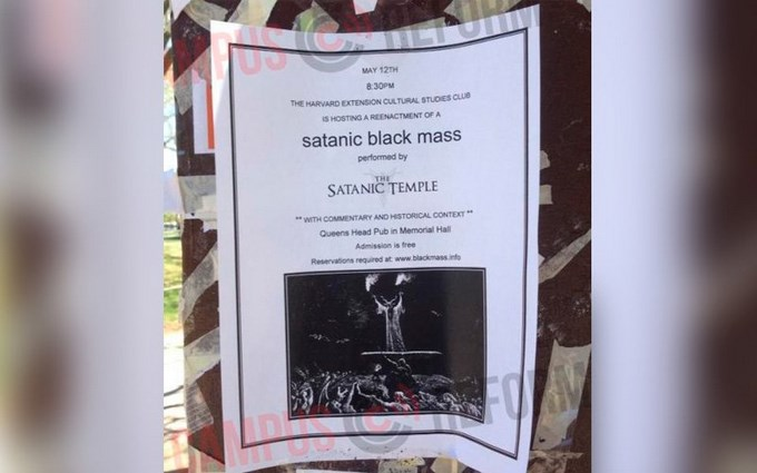 "SatanicTemple Web HarvardCampusReform Copiar Convocan a ""Misa negra satánica"" en campus de la Universidad de Harvard"
