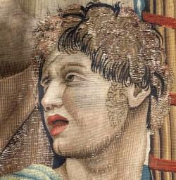 tapestry detail needing repair