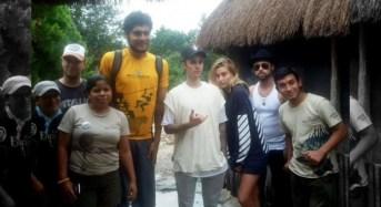 Justin Bibier reta a custodios de Tulum y es sacado de la zona arqueológica