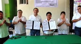 Gobierno de Yucatán garantiza certeza patrimonial a Chicxulub Pueblo e Ixil