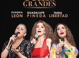 Tres Grandes: Eugenia León, Tania Libertad y Guadalupe Pineda quienes se presentarán en el Yucatán Polo Club