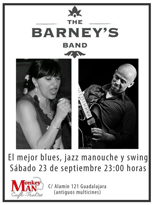 Concierto The Barney's Band Café Teatro Monkey Man Guadalajara