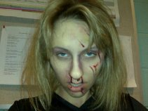 sfx makeup, special effects make up, horror, gore, trauma, wounds, zombie, dead, blood