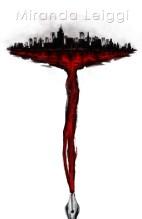 digital poster city bleeding fountain pen