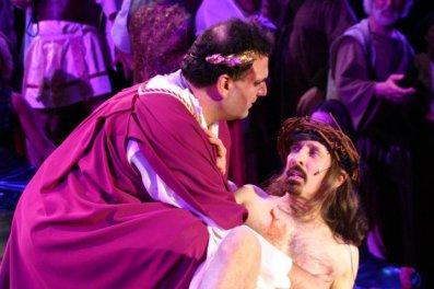 JSSC, jesus christ super star, theatrical makeup, pilate, jesus, blood, flogging