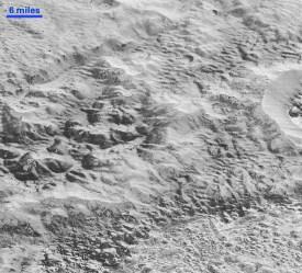 Плутон: рассечённая эрозией местность