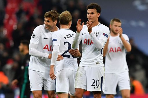 Tottenham's players celebrate