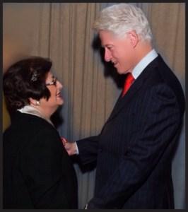 Sonig Kradjian and President Clinton