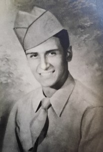 The anonymous donor as a young man in the army