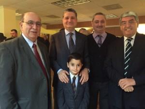 From left Kevork Marashlian, Ambassador Sagsyan with his son Margos, Armen Sargsyan, Armenia's Ambassador to China and Varaztad Avoyan