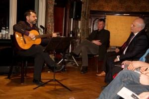 Stepan Gantralyan, Tim Mücke, Publisher, Ambassador Ashot Smbatyan (left to right)