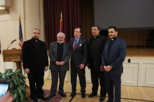 Local clergy with Ambassador Mills