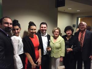 Principal Houry Boyamian with members of the Mardiros family