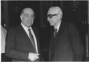 Maitre Hrachya Setrakian, right, with Nazar Nazarian
