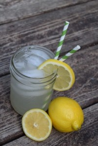 My favorite summer cocktail, mason jar lemonade!