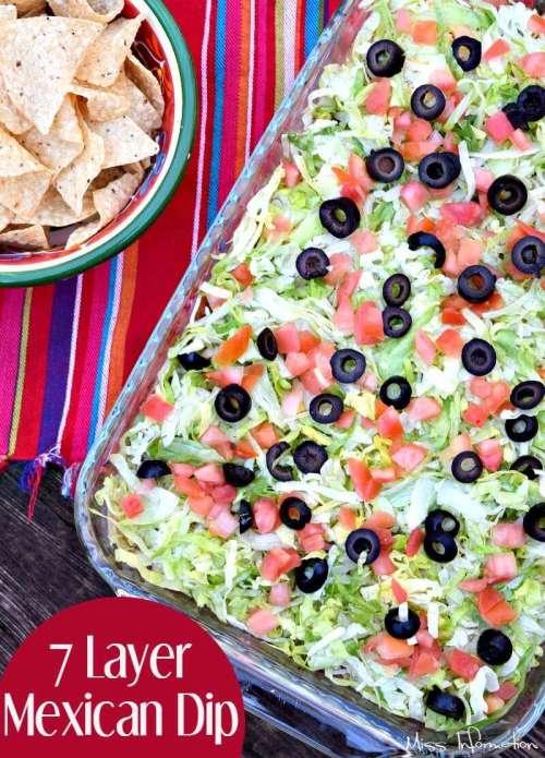 Medium Of Layered Mexican Dip