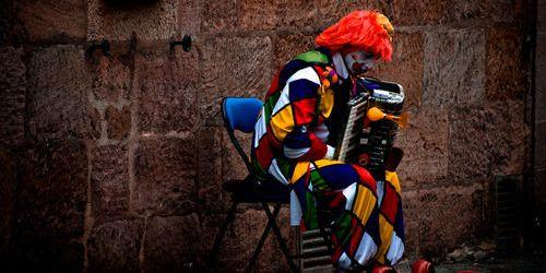 The Sad Clown by Zsofia Daniel
