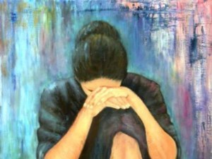 Woman-grief-painting-640x480 - paintings by Cynthia