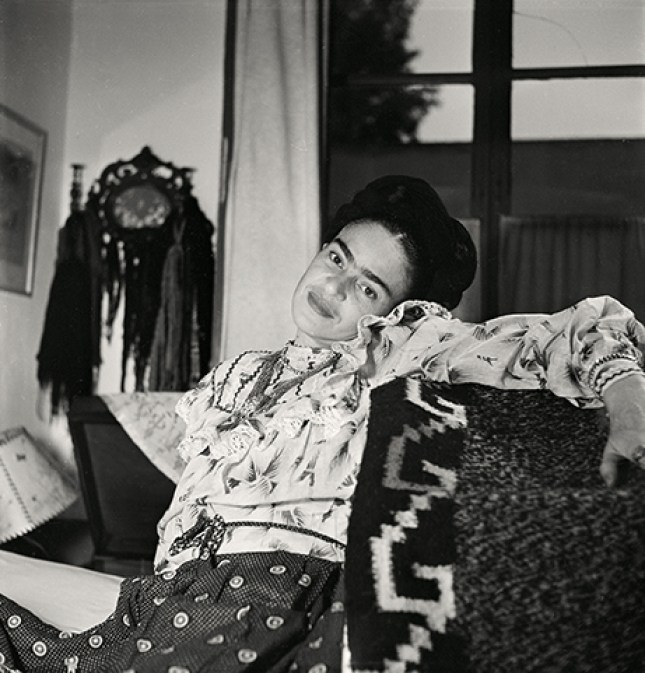 Frida Kahlo at forty-four years old, 1951. Photograph by Gisèle Freund