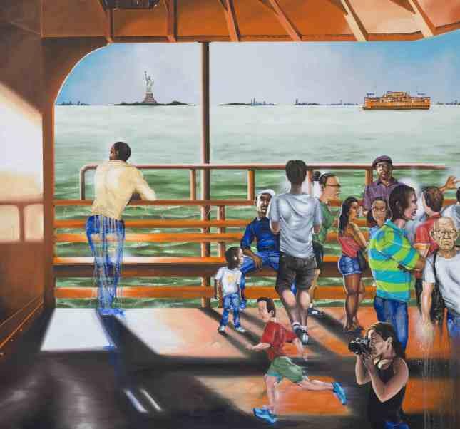 "Chris ""Daze"" Ellis, The Odyssey, 2015, Oil and spray paint on canvas, Courtesy of the Artist"