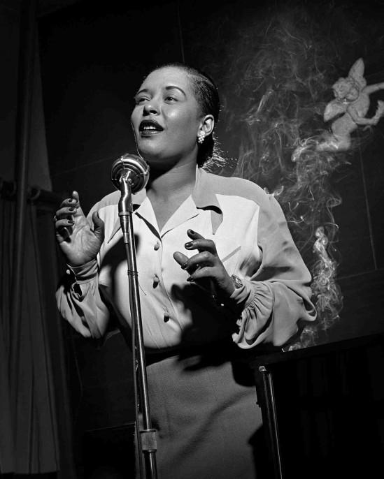 Photo: Billie Holiday by Herman Leonard. Gelatin silver print, 1949. National Portrait Gallery, Smithsonian Institution © Herman Leonard Photography, LLC. Read more at http://www.craveonline.com/art/1017217-jazz-king-photographs-herman-leonard-national-portrait-gallery#tz6wkDjUMWC5zHPO.99