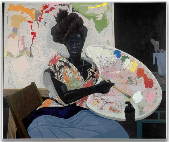 Artwork: Kerry James Marshall, Untitled, 2009. Acrylic on PVC panel. 61 1/8 x 72 7/8 x 3 7/8 in. Yale University Art Gallery, Purchased with the Janet and Simeon Braguin Fund and a gift from Jacqueline L. Bradley, B.A. 1979.