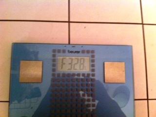 Scale fat percentage