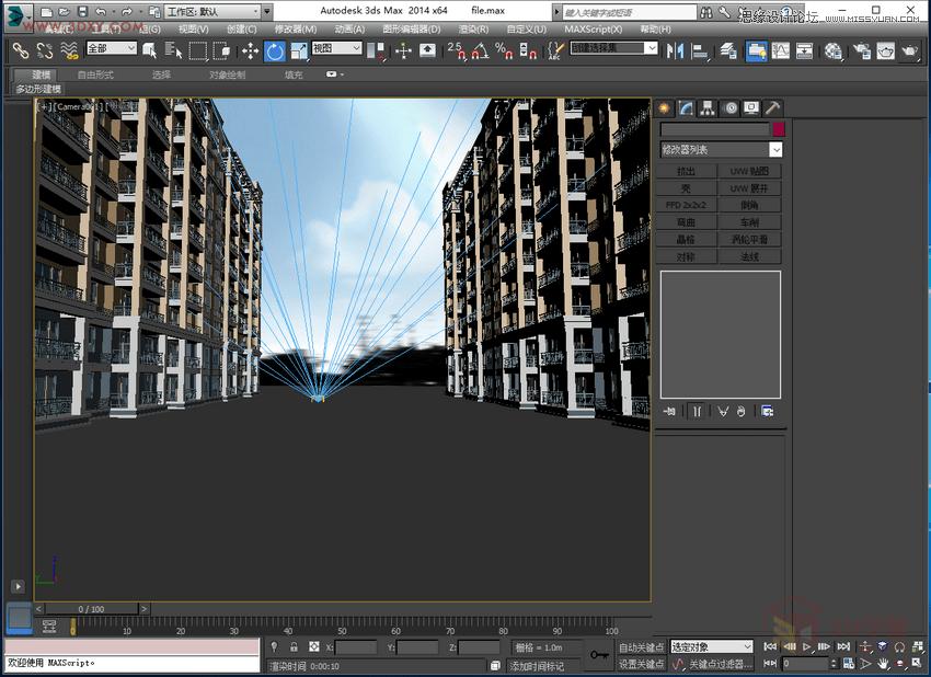 3DMAX給室外建築樓房單體渲染效果