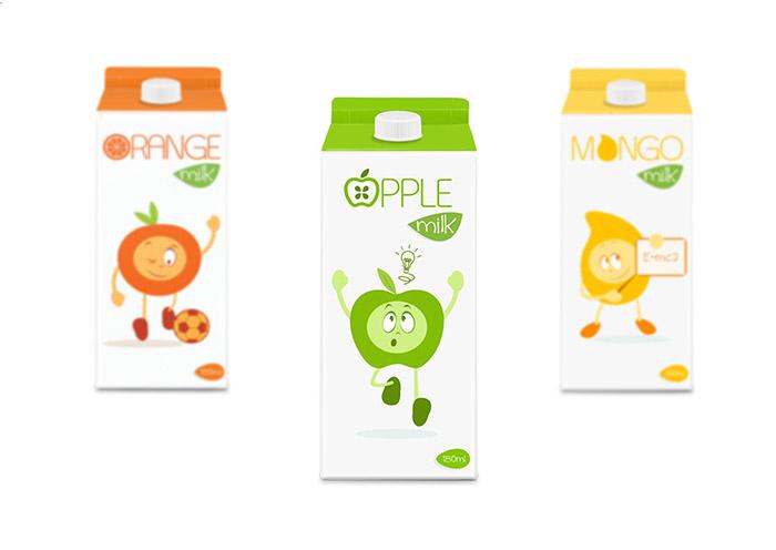 精選國外創意獨特的牛奶包裝設計欣賞